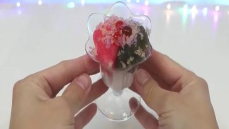 冰沙水果冰淇淋手工制作,DIY玩具乐园
