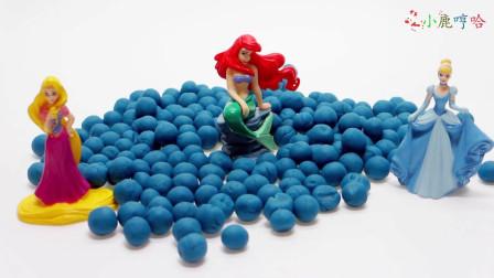 成长益智玩具,法拉公主和冰雪公主对决,奥利公主来当裁判