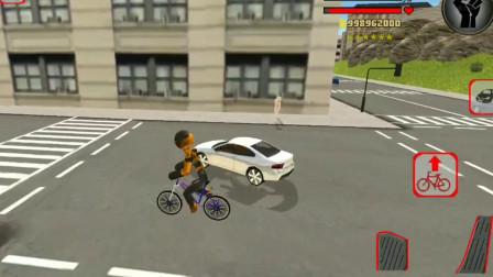 火柴人绳索英雄:就算只有一辆自行车也可以大秀车技