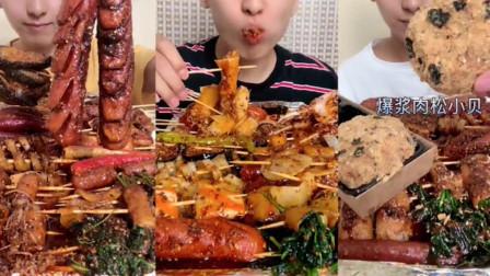 吃播大胃王:小哥哥吃肉松爆浆面包,不知道为啥,我看他吃的难以下咽