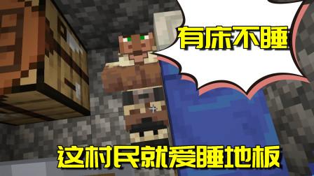 我的世界生存日记32:村民被我挤下床还能这样?想想就奇怪!
