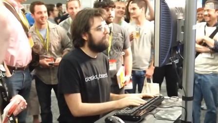 世界上打字最快的男人,全程看不清手,网友:这才是键盘侠!