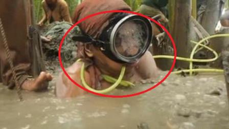 """拿生命""""淘金""""!看菲律宾淘金者有多拼,仅靠9米塑料管供氧"""