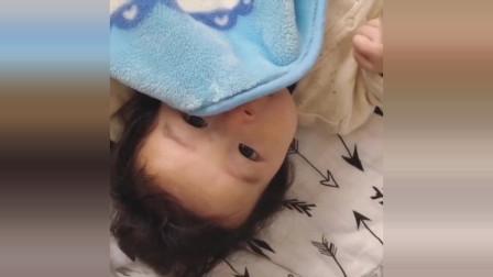 """小宝宝:""""妈妈,刚才有东西盖住我的脸"""