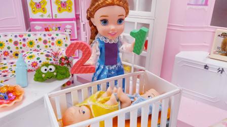 芭比外出请安其拉照顾双胞胎宝宝回来后买了很多薯条奖励她