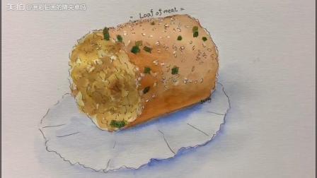 画了再吃-肉松面包卷