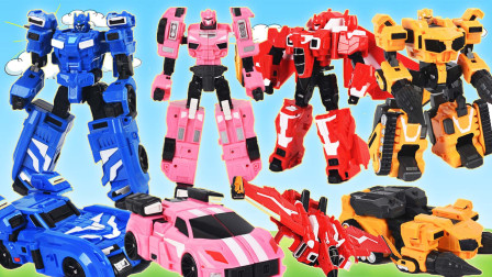 最强战士迷你特工队变形蛋变形机甲战车玩具大合集