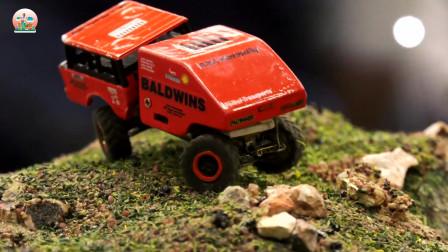 微型仿真RC卡车、挖掘机和装载机玩具