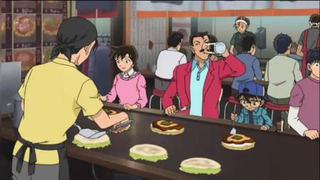柯南:小五郎大白天吃什锦煎饼陪啤酒,一喝就是一大杯