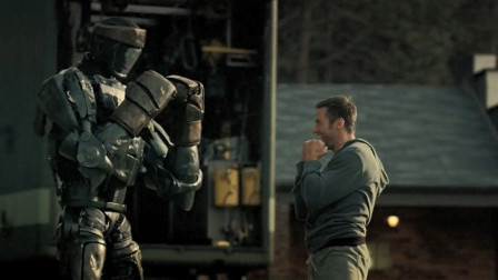 铁甲钢拳:休叔教机器人打拳击,那招三拳连击太帅了!