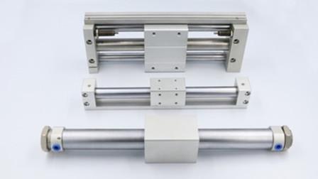 机械设计:磁偶式无杆缸带导轨的推料机构及缸径、安装的确定