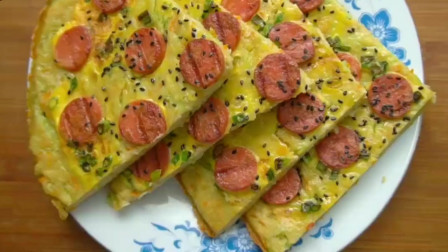 早餐饼这样做,营养松软,做法简单快速,非常美味