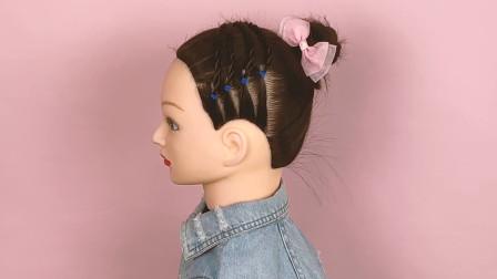 气质优雅的小女孩发型,简单易上手,4—10岁的孩子扎上都好看