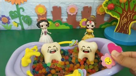 贝儿的牙齿恢复健康了!白雪的怎么办啊?