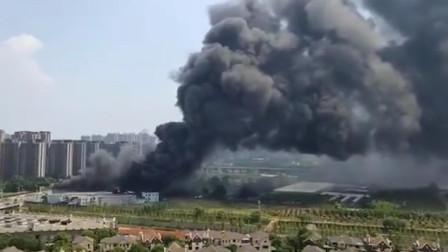 武汉一废弃厂房起火 现场浓烟滚滚无人伤亡