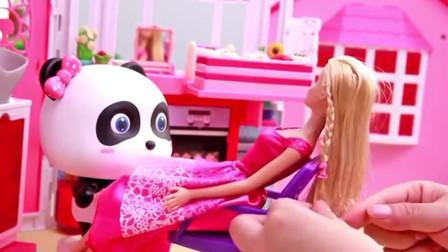 芭比的新发型你喜欢嘛?宝宝巴士玩具