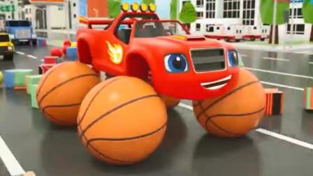 玩具总动员:制造玩具小汽车 怪兽小汽车撞击彩色海洋球染色