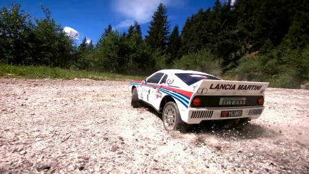 Tamiya Lancia 037 on an Alpine Rally 遥控车