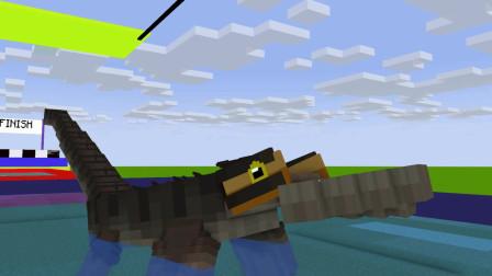 我的世界动画-怪物幼儿园-游泳池挑战