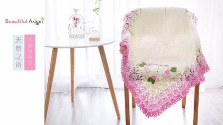 【A35下集】月半手作雪妃尔毛线天使之语毯子材料包视频教程最简单编织方法