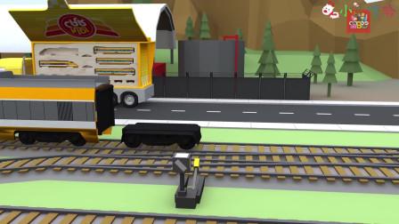 成长益智玩具,火车轨道上,拆分高铁动车现场施工示范
