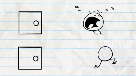 搞笑铅笔画小人:神奇之门进出就变样?