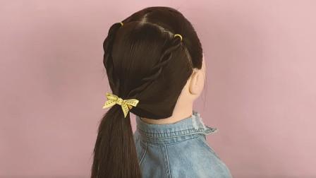 女儿开学后没时间扎头发,那就试试这款吧,1分钟搞定还好看