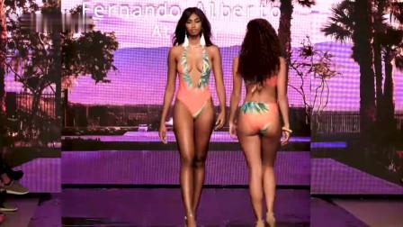2020迈阿密时装周超模泳装精彩走秀,欧美前沿设计,闪耀全场!