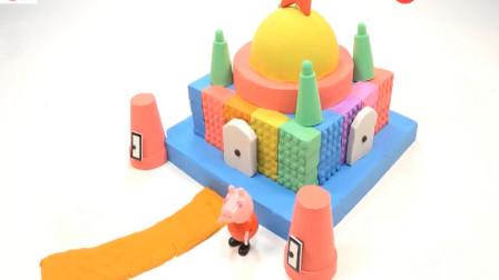 幼儿色彩启蒙玩具 太空沙彩泥创意手工制作彩虹城堡 认识不同颜色