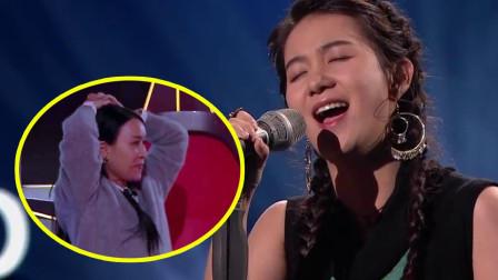中国好声音藏族少女引发史上最快封麦第一次见到那英无奈抱头