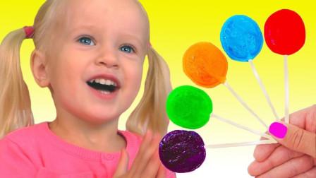 儿童启蒙游戏:小萝莉在家里制作水果棒棒糖