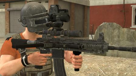 吃鸡动画:这把M416不简单,它能同时装四倍镜和八倍镜