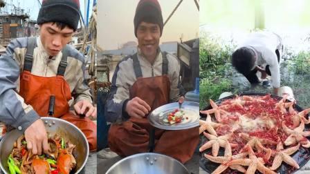 渔民直播做海鲜一小锅,八爪鱼随便吃,是我向往的生活
