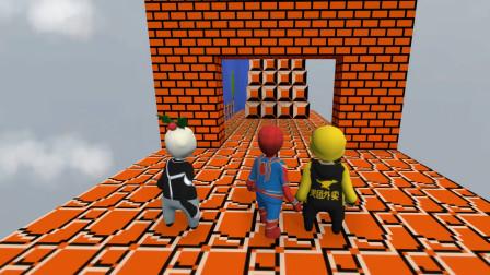 人类一败涂地-三兄弟搞笑闯关1 半仙说我的蜘蛛侠是假了!