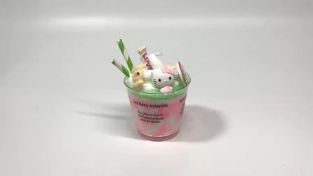 第24课:《彩泥冰淇淋——糖果凯蒂猫》,天才计划diy手工坊