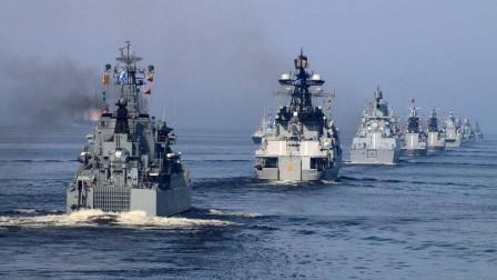 战舰多到一眼望不到头,普京向全世界发出警告,中国海军也来捧场