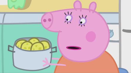 猪妈妈端来了一锅刚刚煮好的马铃薯