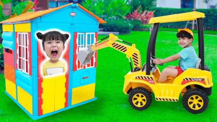 超精彩!萌宝小萝莉要怎么惩罚推翻积木的小正太呢?趣味玩具故事