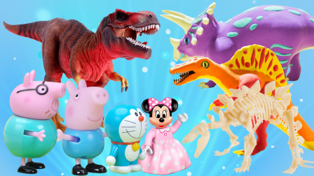玩具派对 小猪乔治梦游恐龙时代,跟着哆啦A梦探索恐龙世界奥秘!