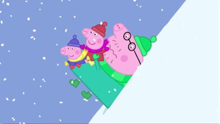 小猪佩奇全集:滑雪比赛,小猪佩奇得了第一名吗