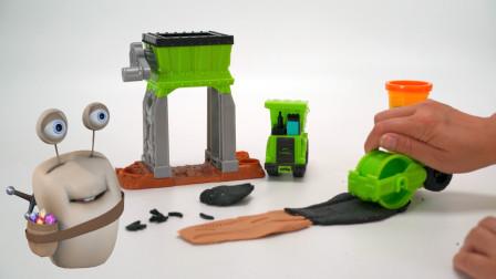 采石场工程车 培乐多彩泥橡皮泥玩具