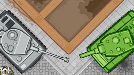 坦克世界轻动画:德系流水线生产坦克!KV2顺道全部击毁?