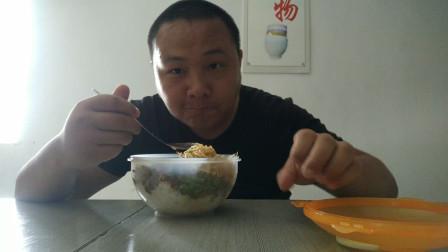 上班vlog0819:公司食堂两素一荤一汤吃播视频