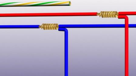 电工知识:软铜线和硬铜线的正确接线方法,实物接线,实物讲解