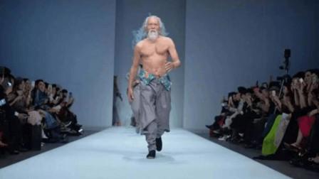 80岁的东北大爷,一身肌肉走T台,网友:这是老鲜肉
