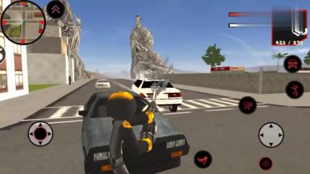 火柴钢铁人3D:钢铁火柴人英雄神奇的驾驶跑车起飞成功?
