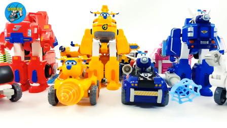 变身小飞机和小汽车组装变身成机器人玩具,儿童玩具亲子互动