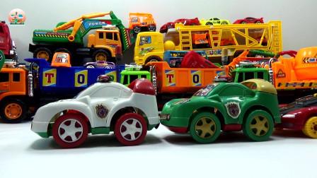 儿童大卡车和超级警车玩具,儿童汽车玩具
