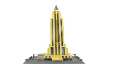 小颗粒积木拼装帝国大厦