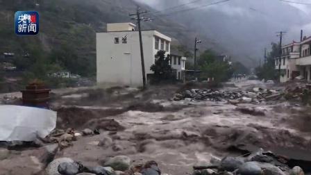 汶川县境内强降雨 成都至阿坝州多处道路中断